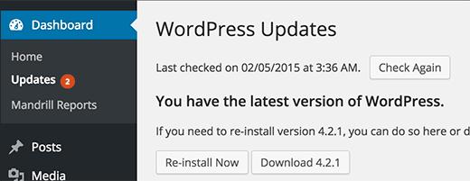 wordpress atualizado