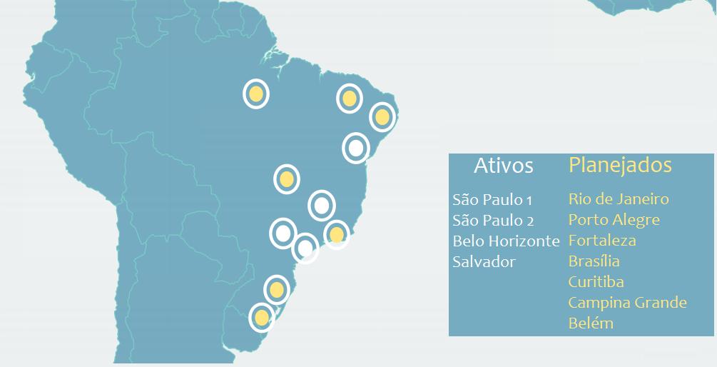 pontos de presença no brasil